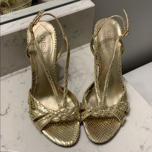 Guess by Marciano Gold metallic Stilettos